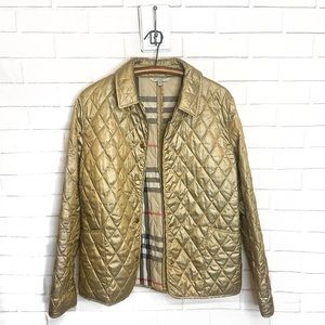BURBERRY LONDON Quilted Jacket Gold